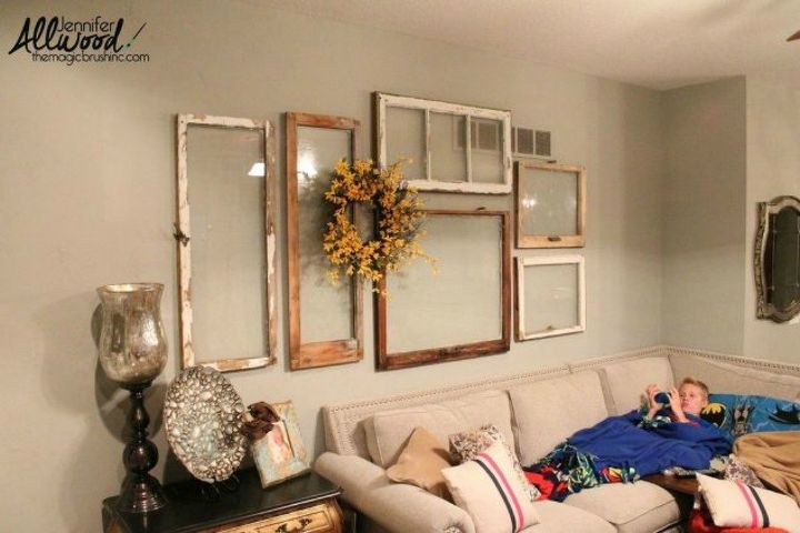 s the ultimate list of window upcycling ideas, windows, Use it for simple wall decor