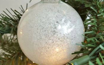 DIY Frosty Snowball Ornaments