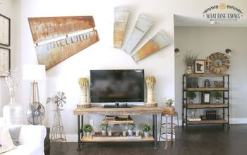 Reclaimed Wood & Black Pipe TV Stand