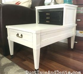 Superior Upcycled End Table With Chalk Mix Paint A Little Secret , Chalk Paint, How  To
