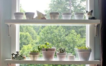 DIY Window Plant Shelves