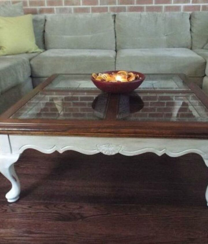 s your quick catalog of gorgeous coffee table makeover ideas, painted furniture, This oak one that looks so elegant
