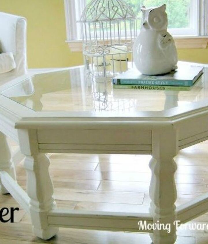 s your quick catalog of gorgeous coffee table makeover ideas, painted furniture, This painted one that looks so pristine