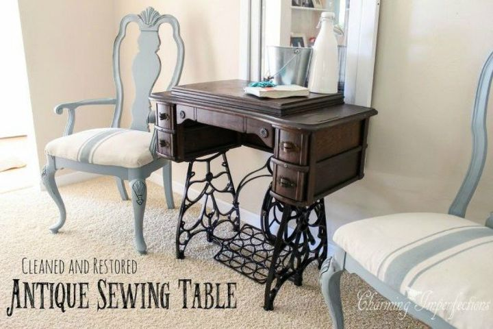 s 12 wildly creative ways to use your old sewing table, painted furniture, Use it as an original side table