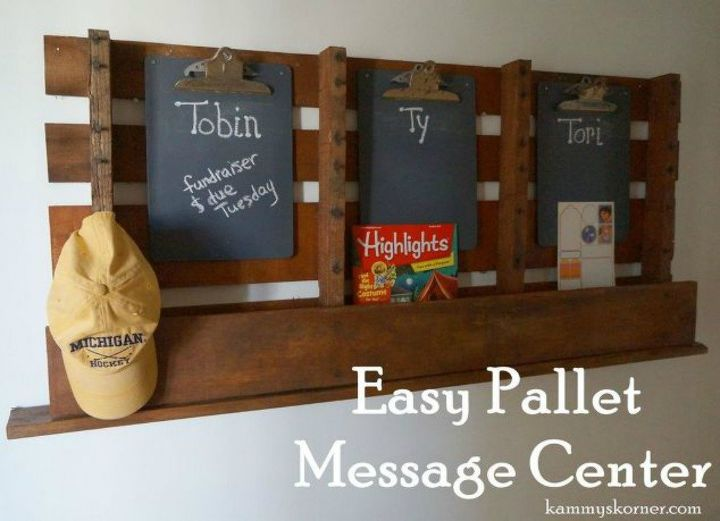 s 13 easy organizing ideas to keep you sane throughout the school year, organizing, Build a message center with a pallet board