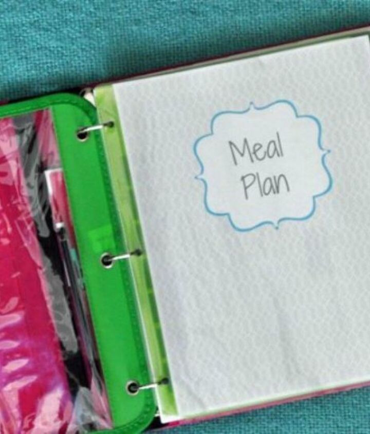 s 13 easy organizing ideas to keep you sane throughout the school year, organizing, Create a family meal plan for dinners