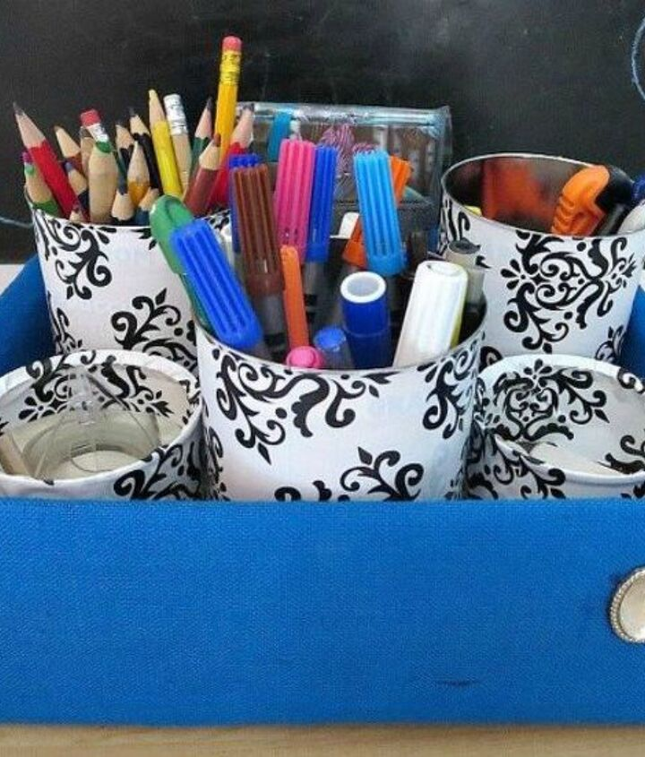 s 13 easy organizing ideas to keep you sane throughout the school year, organizing, Build an organizer for their pens and pencils