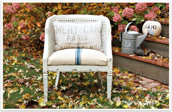 a fall chair makeover , crafts, how to, painted furniture, painting, reupholstoring, reupholster