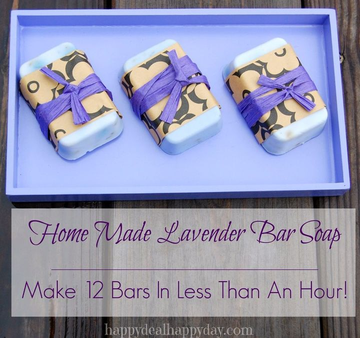 easy diy homemade lavender soap make 12 bars in an hour , cleaning tips, how to