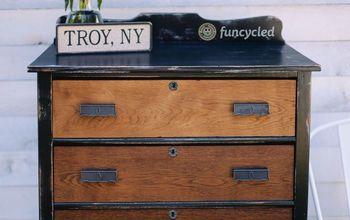 oak dresser makeover, painted furniture, Transformation complete