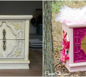 Delightful Diy Dress Up Station Using Old Nightstand, Bedroom Ideas, Painted Furniture