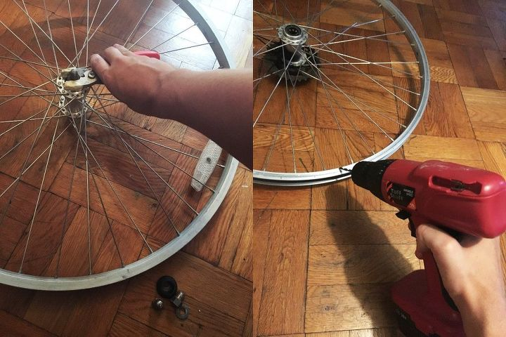 Bicycle Wheel And Chain Chandelier Hometalk