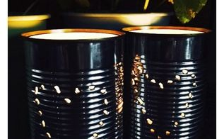 tin can lanterns in 10 minutes , crafts, how to, lighting, outdoor living, repurposing upcycling