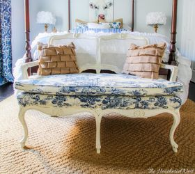 Loveseat Toile Fabric Makeover, Bedroom Ideas, Dining Room Ideas, Home  Decor, Painted