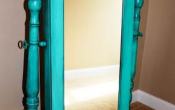 updating an oak jewelry armoire, painted furniture, painting wood furniture
