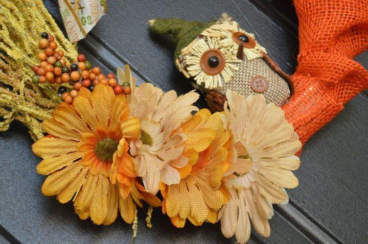 diy easy fall wreath idea , crafts, seasonal holiday decor, wreaths