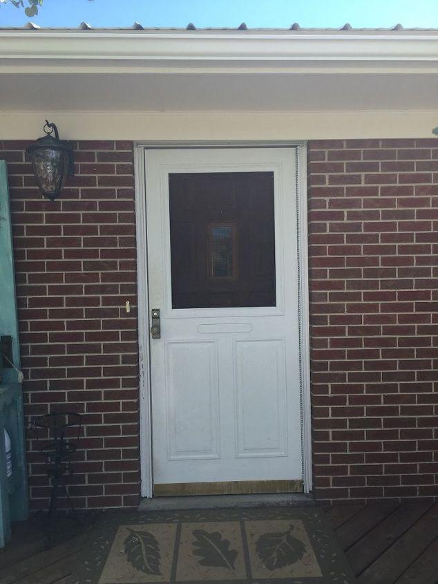 q should i paint the screen door same color as front door, doors, exterior home painting, painting