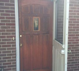 We don\u0027t have AC so the screen door is needed but should I do some fun color or the same color as the door?? Help!!😊 & Hometalk