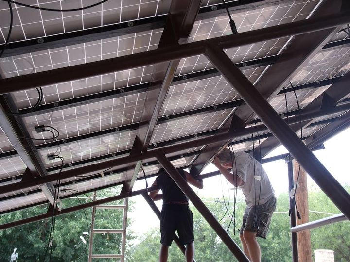 My guys putting panels in place.