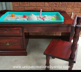Unique Sandpit Desk, How To, Outdoor Furniture, Painted Furniture,  Repurposing Upcycling,