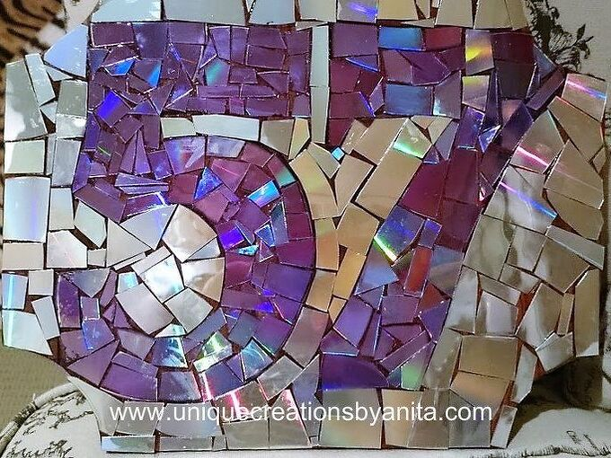 bling bling house numbers, crafts, how to, outdoor living, repurposing upcycling