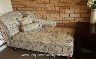 from recycled junk to stunning creation, how to, reupholster, woodworking projects, Handmade Chaise Lounge