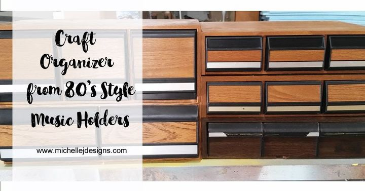 craft organizer made from 80 s music holders, chalk paint, crafts, organizing