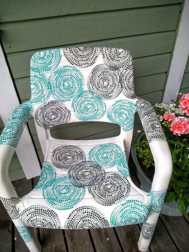 Garden Chair Covered With Ikea Napkins Decoupage Outdoor Furniture