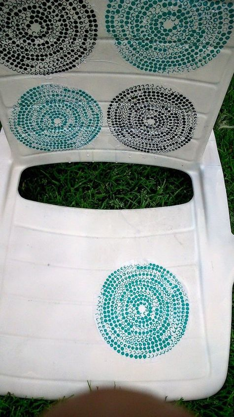 Image Result For Garden Chair Covered With Ikea Napkins Decoupage Outdoor Furniture