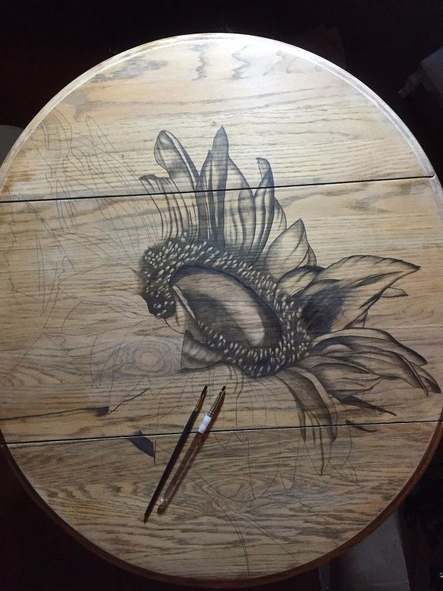 sunflowers and fall go hand in hand don t ya think , painted furniture