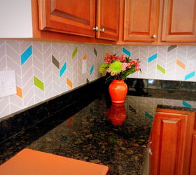 Paint On A Colorful Chevron Pattern