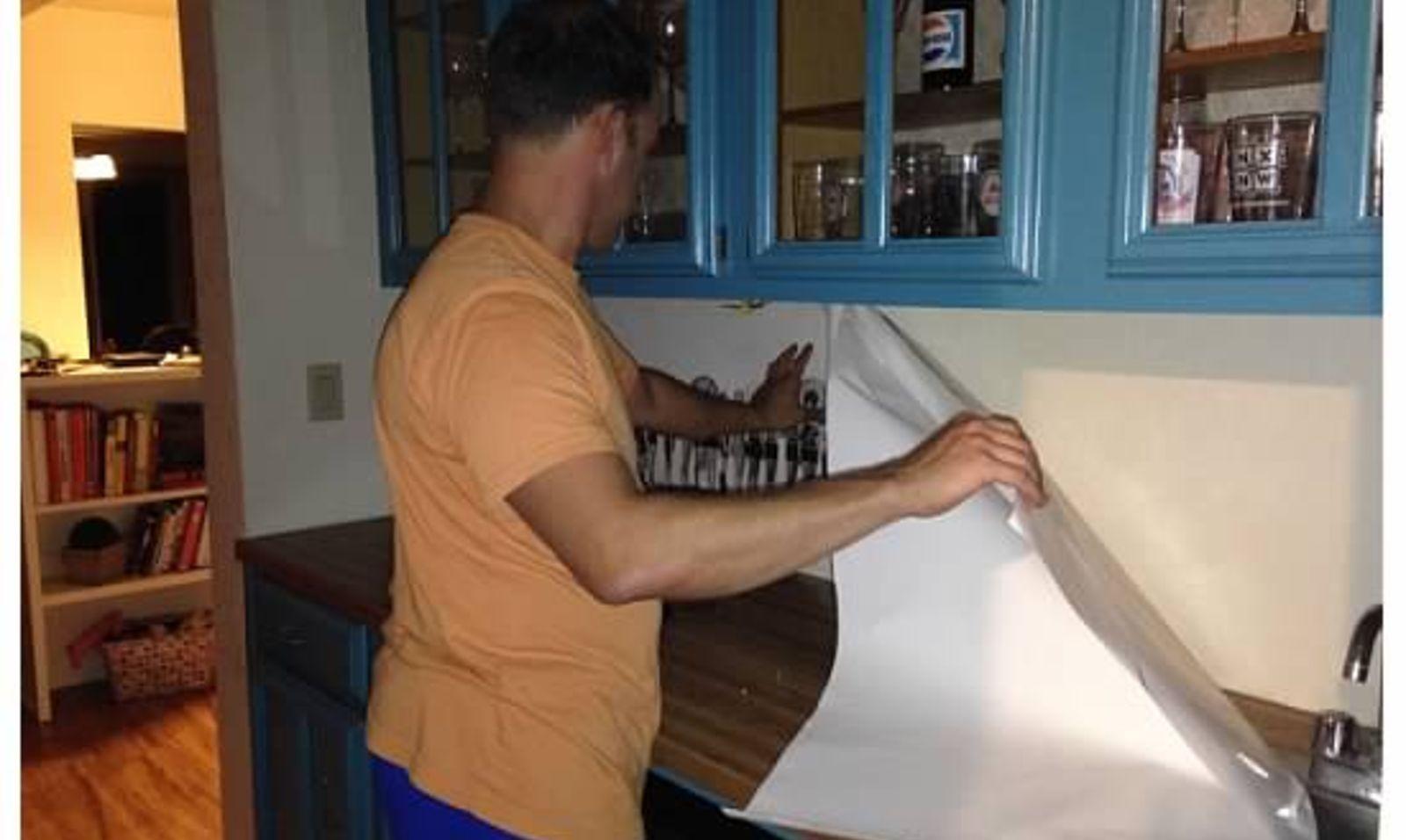 13 incredible kitchen backsplash ideas that arent tile hometalk dailygadgetfo Image collections