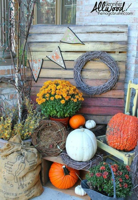 s these 17 fall porch ideas will give you that yummy warm feeling, porches, This orange sunset ombre pallet