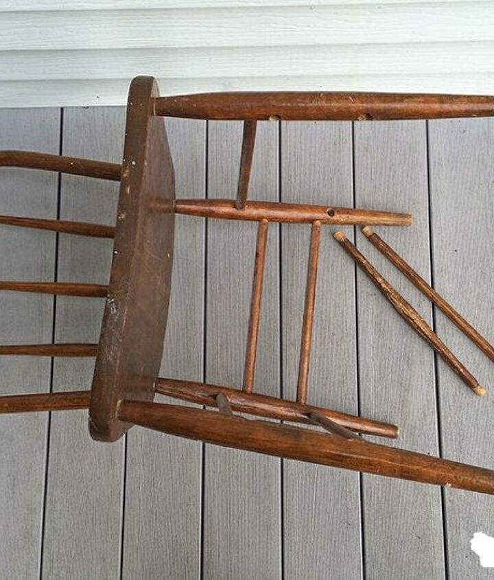 ohio star chair, how to, outdoor furniture, painted furniture, painting wood furniture
