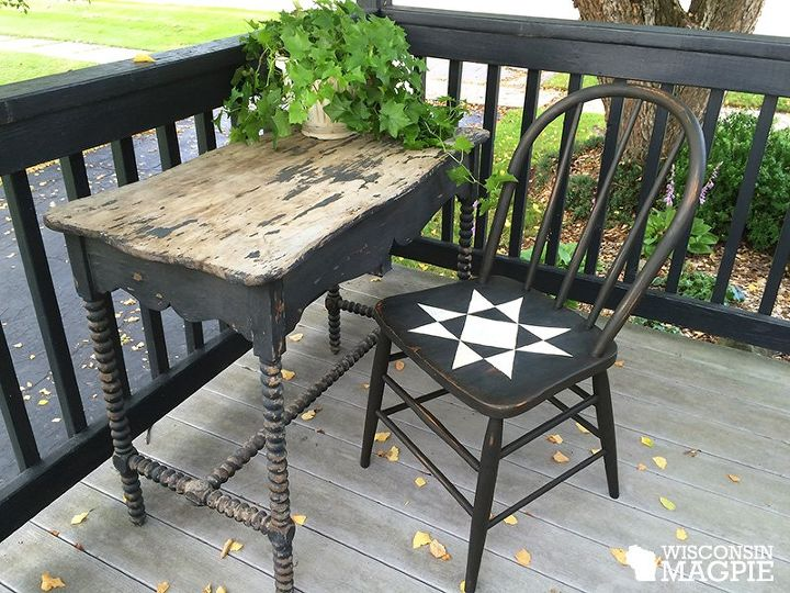 ohio star chair, how to, outdoor furniture, painted furniture, painting  wood furniture - Ohio Star Chair Hometalk