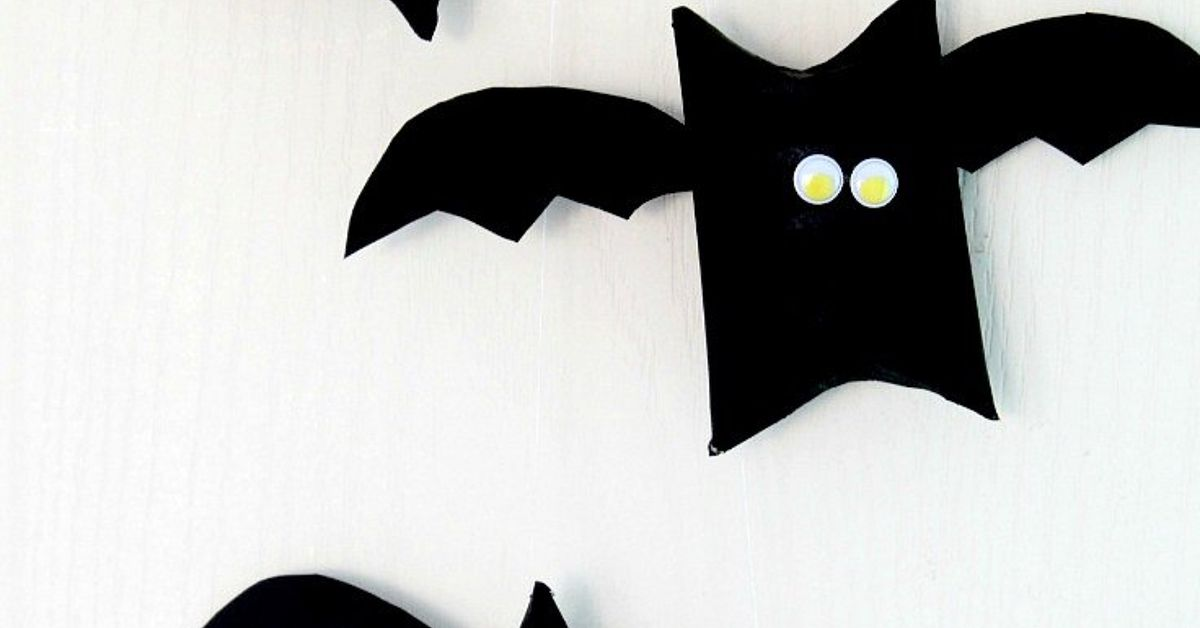 halloween bat toilet paper roll craft hometalk