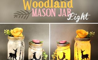 woodland mason jar lights, crafts, how to, lighting, mason jars, repurposing upcycling