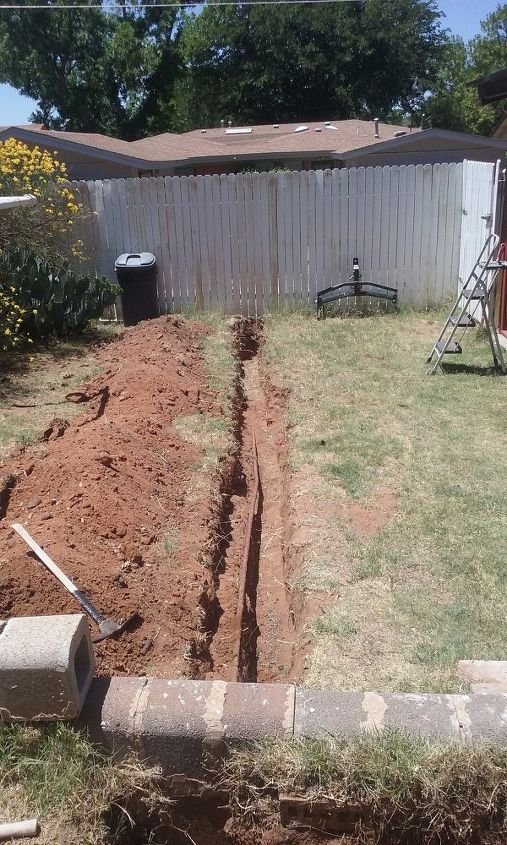 Te easy part - old fashioned shovel work