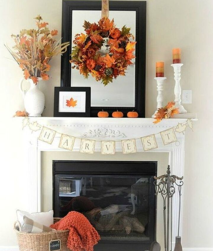 s 13 perfect fall mantel ideas for every style, fireplaces mantels, For the simple and white