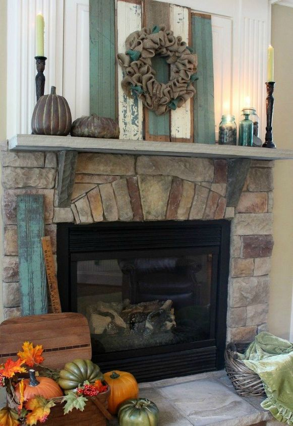 s 13 perfect fall mantel ideas for every style, fireplaces mantels, For the one who hates orange