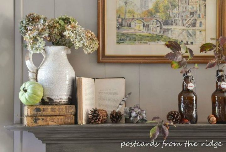 s 13 perfect fall mantel ideas for every style, fireplaces mantels, For the thrift store finds