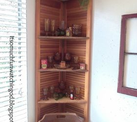 bi fold doors turned corner shelf doors how to organizing repurposing upcycling & Bi-fold Doors Turned Corner Shelf | Hometalk