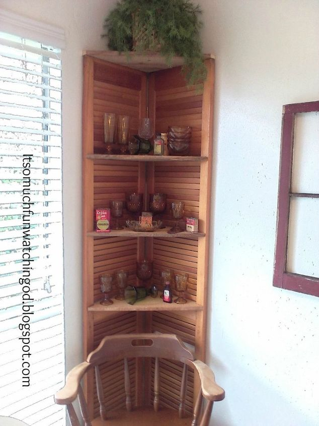 Bi Fold Doors Turned Corner Shelf Hometalk