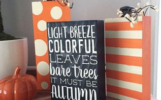 scrap wood pumpkin fall quote decor blocks, crafts, how to, painting, seasonal holiday decor