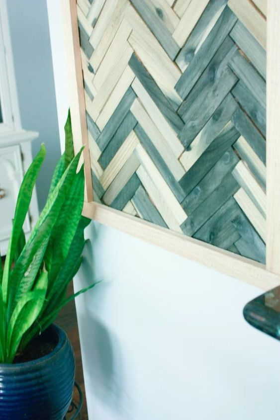 Make Cheap And Easy Wall Art With Wood Shims Hometalk