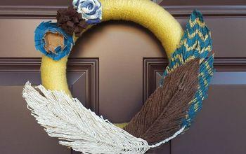 Yarn Feather Tutorial + Wreath