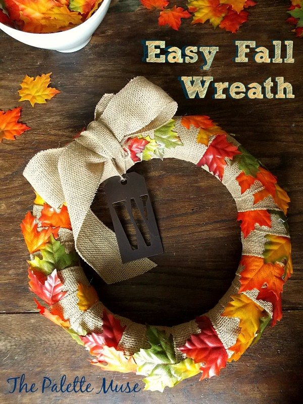 easiest ever fall wreath, crafts, how to, seasonal holiday decor, wreaths