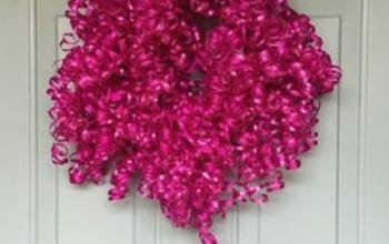 curly cute birthday wreath, crafts, wreaths