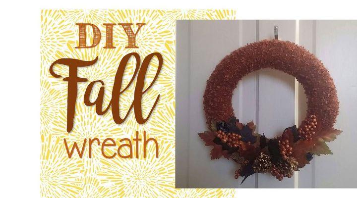DIY Fall Wreath Tutorial   Hometalk