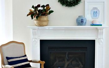 how to style your fireplace for spring, fireplaces mantels, how to